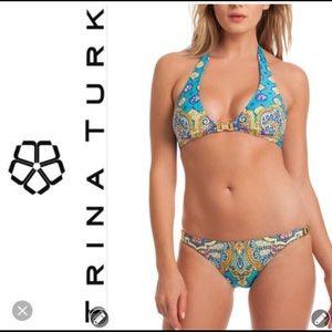 Trina Turk turquoise Corsica bikini size 8 (EUC)